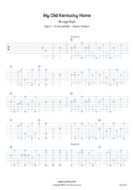 My Old Kentucky Home Banjo tabs & chords | Tunefox com