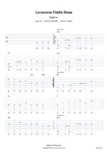 Guitar Lonesome Fiddle Blues tab